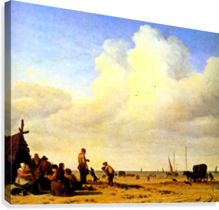 Beach Scene  Canvas Print
