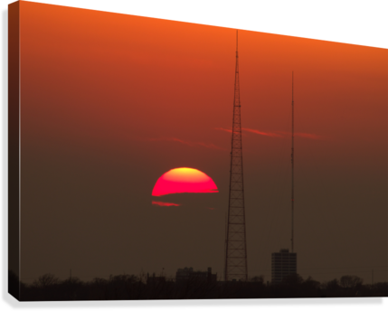 KCMO Tower Sunset   Canvas Print