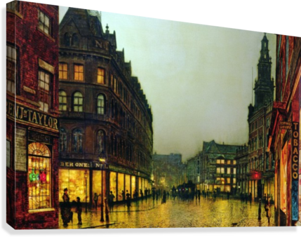 Boar Lane, Leeds  Canvas Print