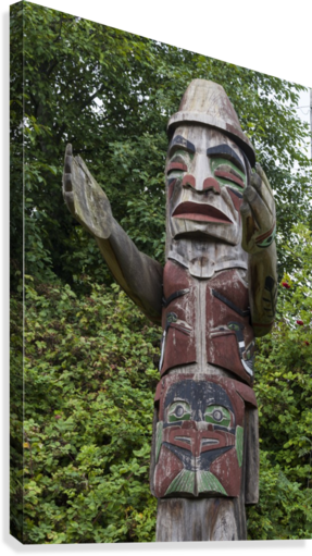 Totem pole of Granville Island 2  Canvas Print