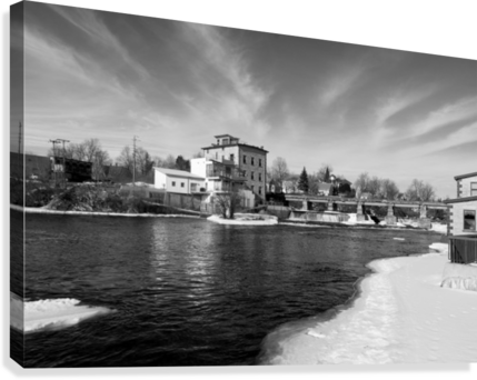 Almonte Spring 1 b&w  Canvas Print