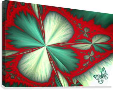 Shamrock and Butterfly  Canvas Print