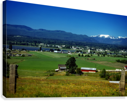 Comox Valley Thirty Years Ago  Canvas Print