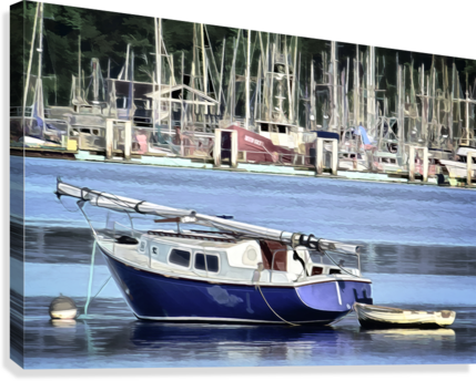Resting in the Harbor  Canvas Print