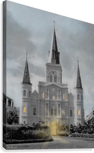 St Louis Cathedral - New Orleans  Canvas Print