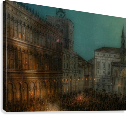 Carnival in Piazza  Canvas Print