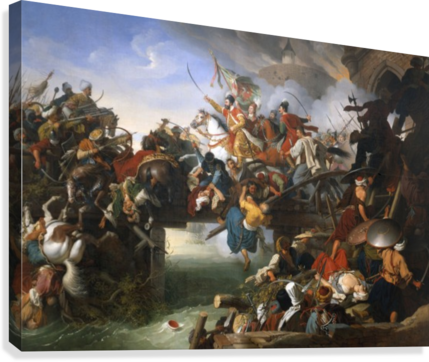 Charge from the Fortress  Canvas Print