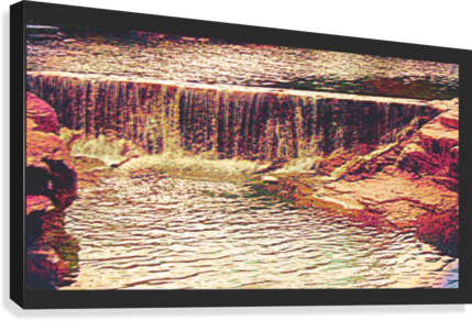 Medicine Park waterfall pic art  Canvas Print