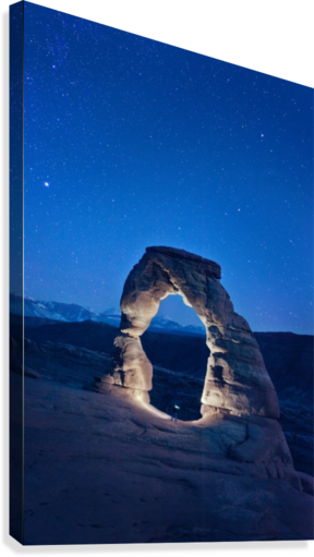 Delicate Arch Night  Canvas Print