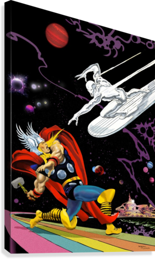 Marvel: Thor vs The Silver Surfer  Canvas Print