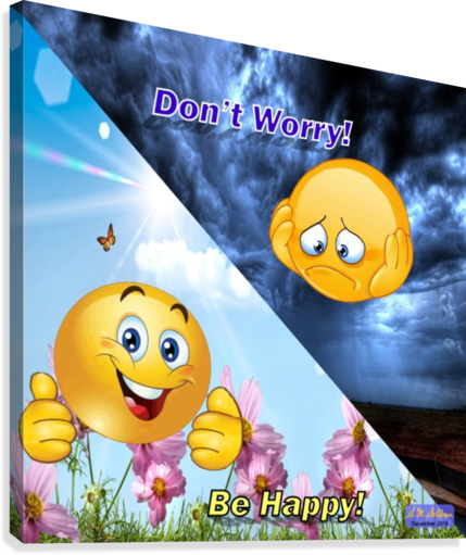2-Dont Worry Be Happy  Canvas Print