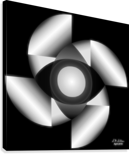 1-Golden Ratio B&W  Canvas Print