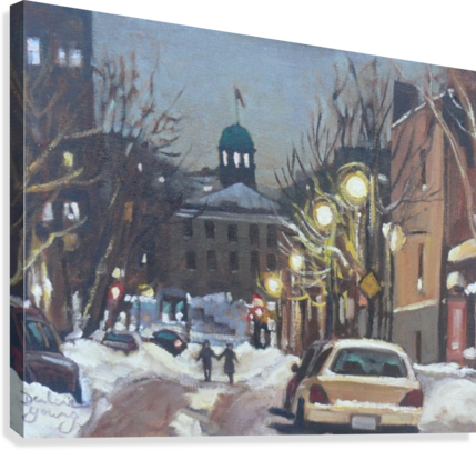 MCGILL GHETTO NIGHT SCENE DARLENE YOUNG CANADIAN ARTIST  Canvas Print