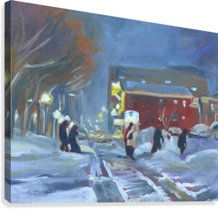 CHARLOTTETOWN WINTER EVENING DARLENE YOUNG  Canvas Print