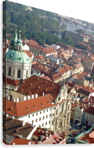 Looking Down on Prague  Canvas Print