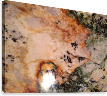 Marble from a Kitchen Countertop  Canvas Print