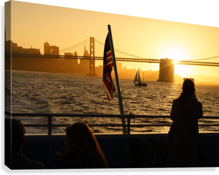 Sunset In The Bay  Canvas Print
