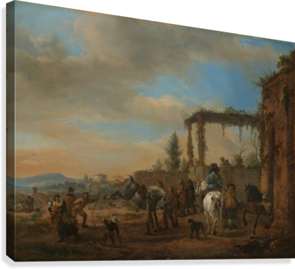 DE RIJSCHOOL PHILIPS WOUWERMANS  Canvas Print