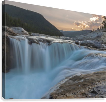 Elbow falls  Canvas Print