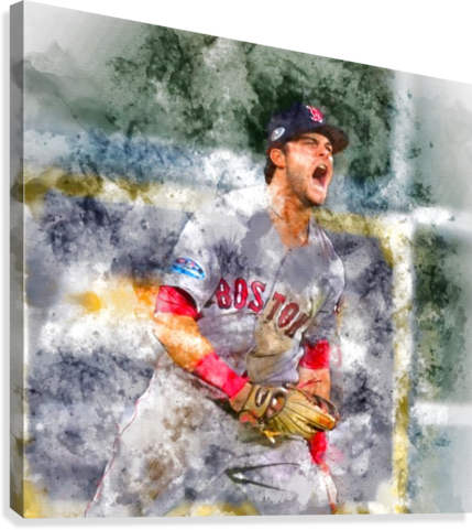 ANDREW BENINTENDI Water Color Print - Boston Red Sox Print  Canvas Print