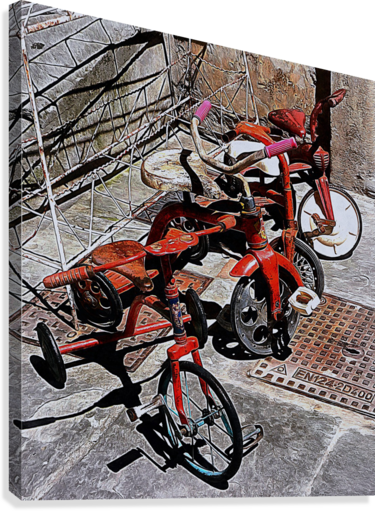 Italian Toy Antique Tricycles  Canvas Print