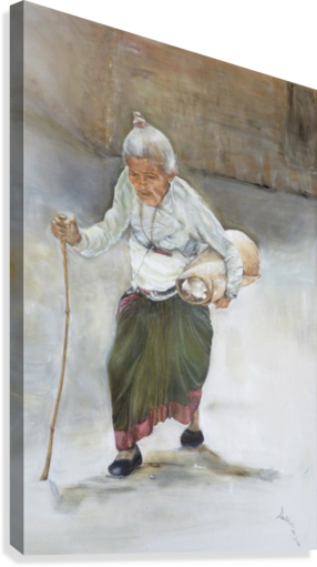 Old_Woman_High_Res  Canvas Print
