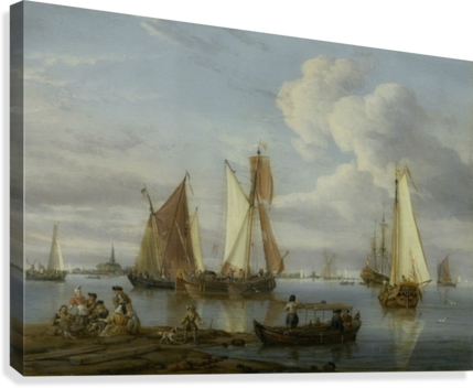 DUTCH SHIPPING IN AN ESTUARY ABRAHAM STORCK  Canvas Print