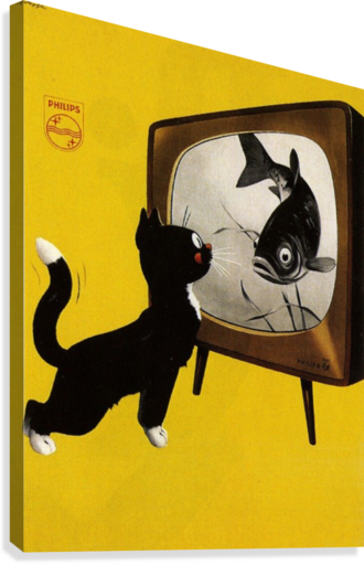 Dutch poster for Philips Tv, 1951  Canvas Print
