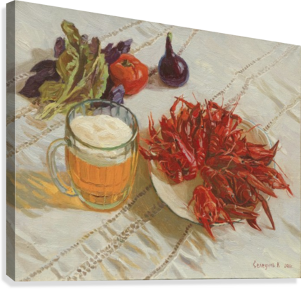 STILL_LIFE_WITH_CRAWFISH EGALITARIAN ART GALLERY  Canvas Print