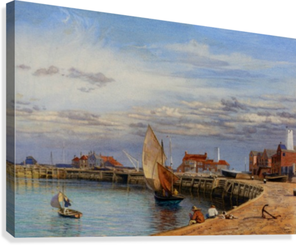 Entrance to Yarmouth Harbour  Canvas Print
