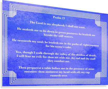 PSALM 23 2BL SCRIPTURE ON THE WALLS  Canvas Print