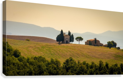 small church in tuscany  Canvas Print