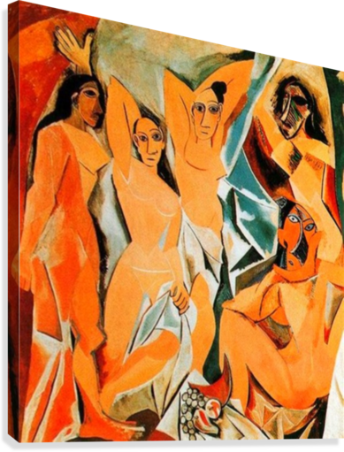 Pablo Picasso The Girls Of Avignon Hd 300ppi Famous Paintings