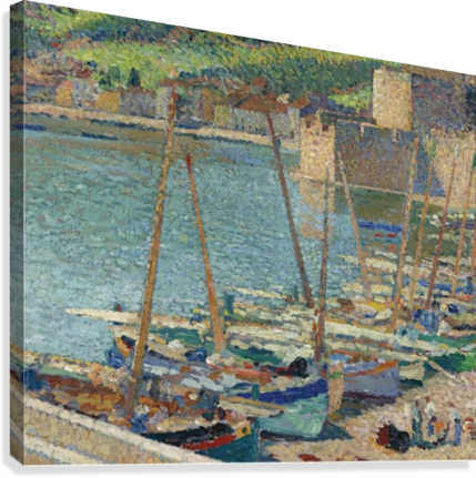Fishing Boats on the Shore at Collioure  Canvas Print