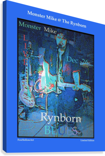 Monster Mike At The Rynborn Blues Club  Canvas Print