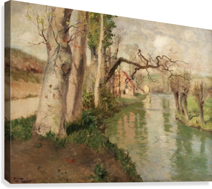 From Dieppe to Arques River  Canvas Print