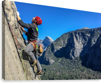 Climber on El Capitan  Canvas Print
