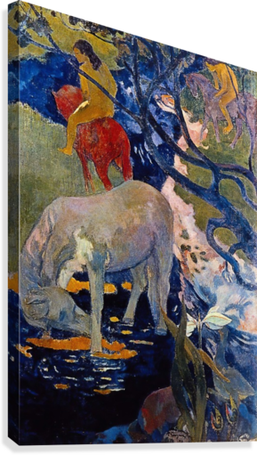 The White Horse by Gauguin  Canvas Print