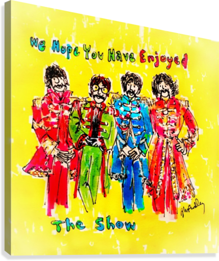 The Beatles - Enjoyed The Show  Canvas Print