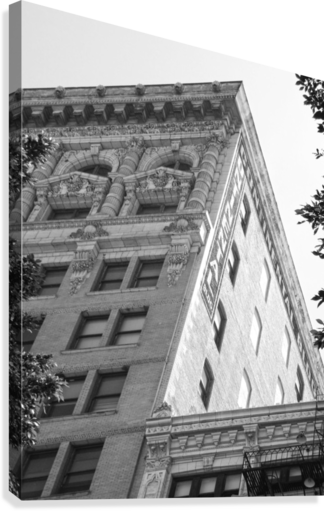 CONTINENTAL BUILDING DTLA - B&W HOLD STILL PHOTOGRAPHY  Canvas Print