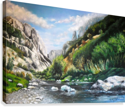 Torda-Gorge  Canvas Print