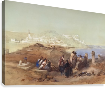 Jaffa, View from South  Canvas Print