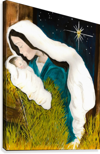 Unto Us A Child Is Born Mary And Baby Jesus Jan Kornegay Dappen