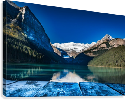 Lake Louise Dock  Canvas Print