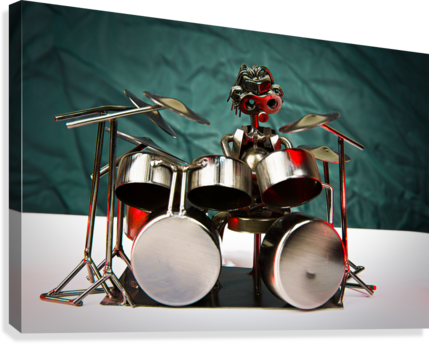 Nuthead on the Drums  Canvas Print
