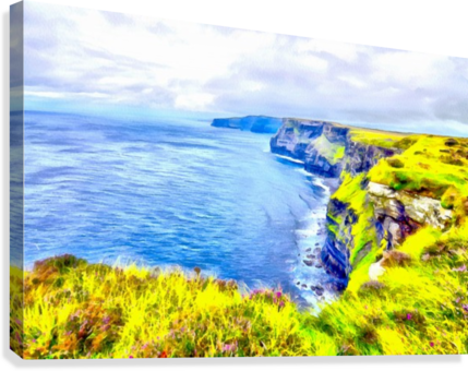 CLIFFS OF MOHER 1 AZO  Canvas Print