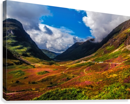 The Valley of Three Sisters. Glencoe. Scotland  Canvas Print