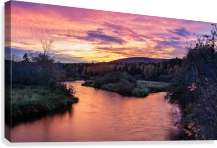 Early morning on the Margaree river   Canvas Print