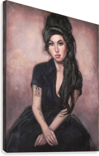 Amy in black   Canvas Print