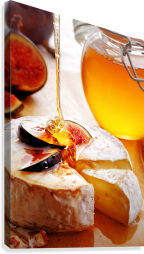 Brie Cheese with Figs and honey  Canvas Print